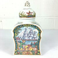 Sadler TEA CLIPPER Porcelain Tea Caddy Container & Lid Made in England
