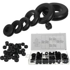 180pc Gummi-Ösen Sicherungsring Set Blanking Loch Verdrahtung Kabel Dichtung Kit