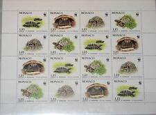 MONACO 1991 Klb 2046-49 MS 1778-81 Turtles WWF Fauna Schildkröten Reptilien MNH