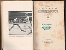 Boxing Book the lonsdale Library  1931 Boxing
