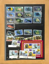 [OP9513] British Virgin Islands lot of stamps on 12 pages