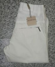 Burberry Girls White Turn Hem Cotton Trousers/Pants - 12 Years