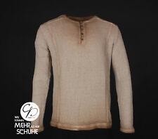 Langarmshirt Longsleeve Shirt Sweatshirt Pulli Hemd Knopfleiste Used Look