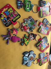 Teen Titans Go! Soft Touch Keyring Key Chain Lot Of 5 New NWT
