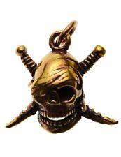 Colgante Bronce Calavera Pirata