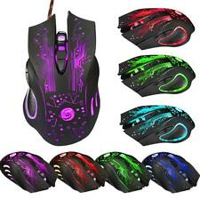 6 Button 5500DPI LED Optical USB Wired Gaming Mouse Mice For PC Laptop Pro Gamer