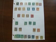 FRANCE SECOND ALBUM PAGE OF COLLECTION 34 DIFFERENT STAMPS (1870-1877) SCV $502