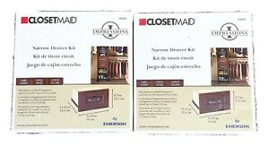 2 ClosetMaid Impressions 8.7 in. Hx13.4 in. Dark Cherry Wood Drawer Kit for 16W