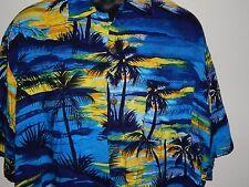 """OCEAN CURRENT """"Vintage Original"""" Rayon Hawaiian Shirt Size XL Extra Large"""