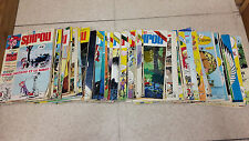 Lot de 71 magazines Spirou année 1976/1977 N° 1974 à 2045