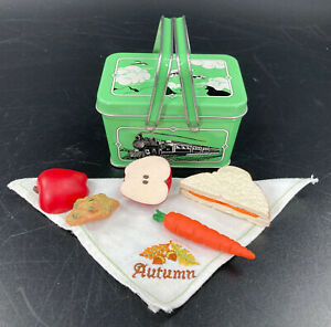 American Girl Doll Kit Kittredge Green Tin School Lunch Box with Food, Retired