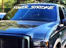 "PowerStroke Windshield Banner Decal Ford Trucks 4""x36"" USDM Sticker power stroke"