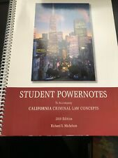 Student Powernotes California Criminal Law Concepts