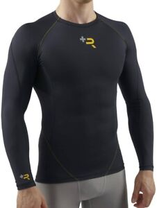 Sub Sports R+ Recovery Compression Long Sleeve Mens Training Top - Black