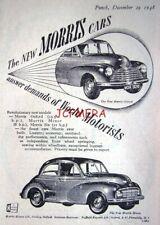 'MORRIS MINOR & Oxford' Split-Screen Motor Cars ADVERT : Small 1948 Print AD