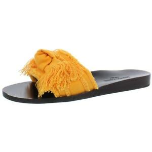 Marion Parke Womens Jordan Fringe Bow Casual Slide Sandals Shoes BHFO 1081