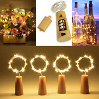 2M 20LED Christmas Copper Wire Wine Bottle Cork Battery Fairy String Light Decor
