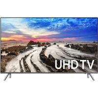 "Samsung UN65MU8000  64.5"" 4K UHD Smart LED TV (2017 Model) - OPEN BOX"