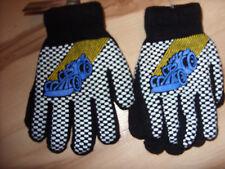 1 Paar Kinderhandschuhe / Fingerhandschuhe mit Motiv / Neu / Schwarztöne / H 2