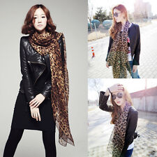 Fashion Women's Long Style Wrap Lady Shawl Leopard Chiffon Scarf Scarves Stole