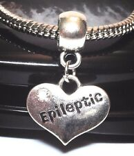 EPILEPTIC_Medical Alert Bead Fits Silver European Charm Bracelet_Epilepsy_Z9