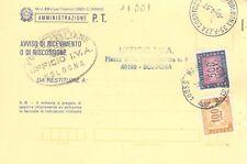 11001 --  STORIA ITALIA 1977- SEGNATASSE  - AVVISO RICEV.IMENTO.- VEDI  FOTO
