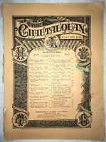 "RARE ""The Chautauquan"" Magazine, January 1889 Issue Theodore Flood Wong Chin Foo"