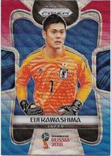 2018 Panini FIFA World Cup Blue Red Wave Prizm (125) Eiji KAWASHIMA Japan