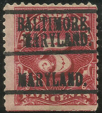 USA, Postage Due, 5 Cents RED, PRECANCELED BALTIMORE, MARYLAND, MINT HINGED, 3 L