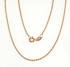 Rose Gold Plated on 925 Sterling Solid Silver Chain Necklace various Italian