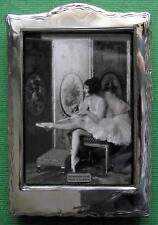 LARGE Edwardian Design  Hallmarked Sterling Silver Photo Frame : Xmas Valentines