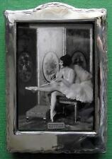 LARGE Edwardian Design  Hallmarked Sterling Silver Photo Frame : Xmas Valentines