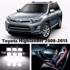 14pcs LED Xenon White Light Interior Package Kit for Toyota Highlander 2008-2013