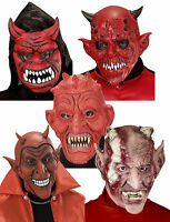 Adult Evil Devil Demon Satan Horror Mask Halloween Fancy Dress Costume Cosplay