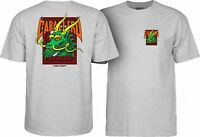 Powell Peralta Steve Caballero GREEN DRAGON AND BATS T Shirt ASH XXL