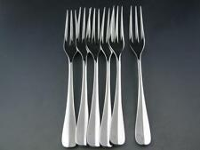 """6 Sterling STIEFF 7 3/4"""" Dinner Size Forks Williamsburg QUEEN ANNE - exc cond"""