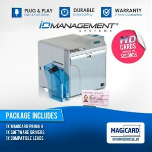 Magicard Prima4 Dual Sided Retransfer Card Printer • Free UK Delivery