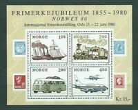 Norway - Mail 1980 Yvert 773/6 MNH Plane. Train