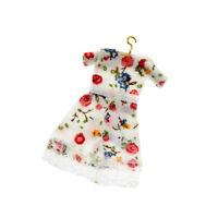 Dollhouse Miniature 1:12 Clothes Skirts w/ Hanger Wardrobe Doll House Decor