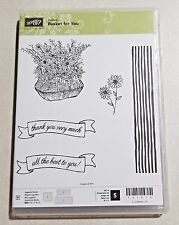 Stampin' Up! Basket For You Photopolymer Hostess Exclusive Daisy