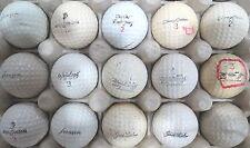 (15) SIGNATURE LOGO GOLF BALLS (SANDERS, RODRIGUEZ, MIDDLECOFF, SARAZEN) #353
