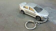 Diecast Mitsubishi Evolution X ( 10 ) Silver Toy Car Keyring   NEW