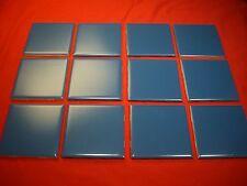 Vintage 4-3/8 inch Blue ceramic tile by Mosaic...NOS