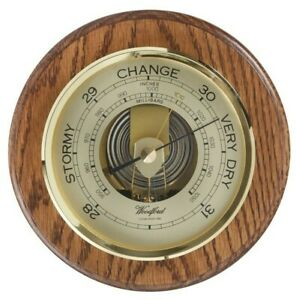 Woodford Solid Wooden Oak Round Wall Mounted Barometer 1622