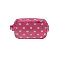 Pink & White Polka Dot Dotty Make Up Makeup Cosmetic Beauty Bag Pencil Case Gift