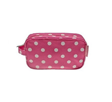 PINK & WHITE a Pois Dotty Make Up Trucco Cosmetici Beauty Sacchetto Astuccio Regalo