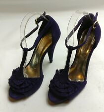 MISS SELFRIDGE WOMENS PURPLE STRAPPY ANKLE SANDALS HIGH HEELS SHOES SIZE UK 4 37