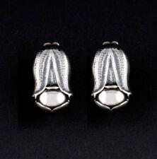 Pendientes de joyería de metales preciosos sin piedras clips de plata de ley