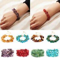 Fashion Natural Stone Crystal Bracelet Women Wedding Quartz Bangle Lucky Jewelry
