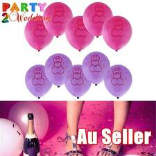 10pcs Pecker Willy Penis Hens Night Bachelorette Pink Purple Balloons Party Deco